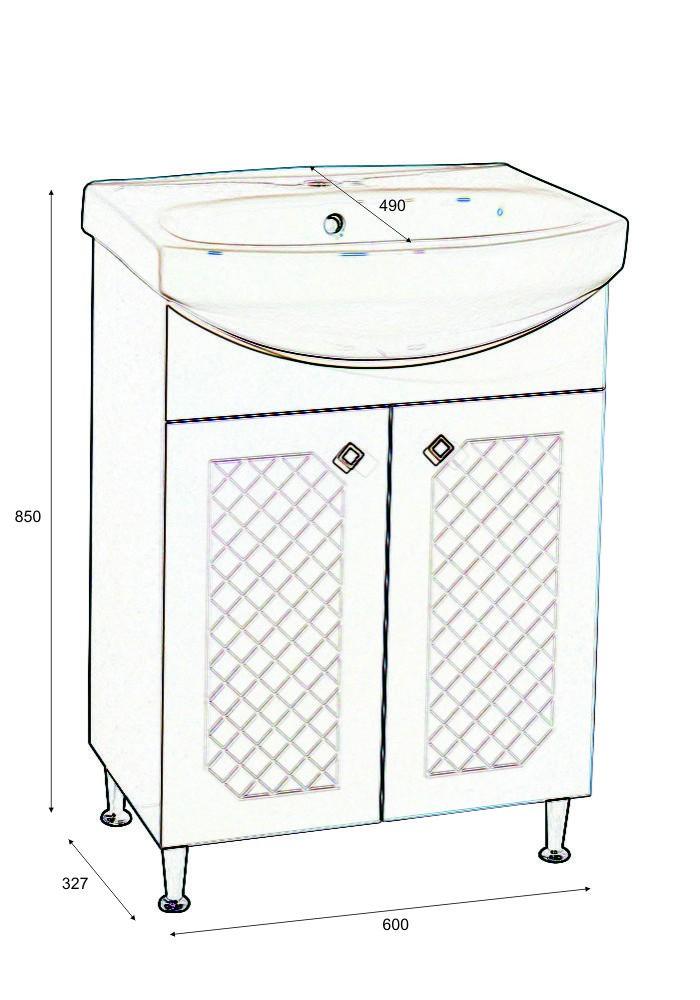 Шкаф Ангара долен 60 см