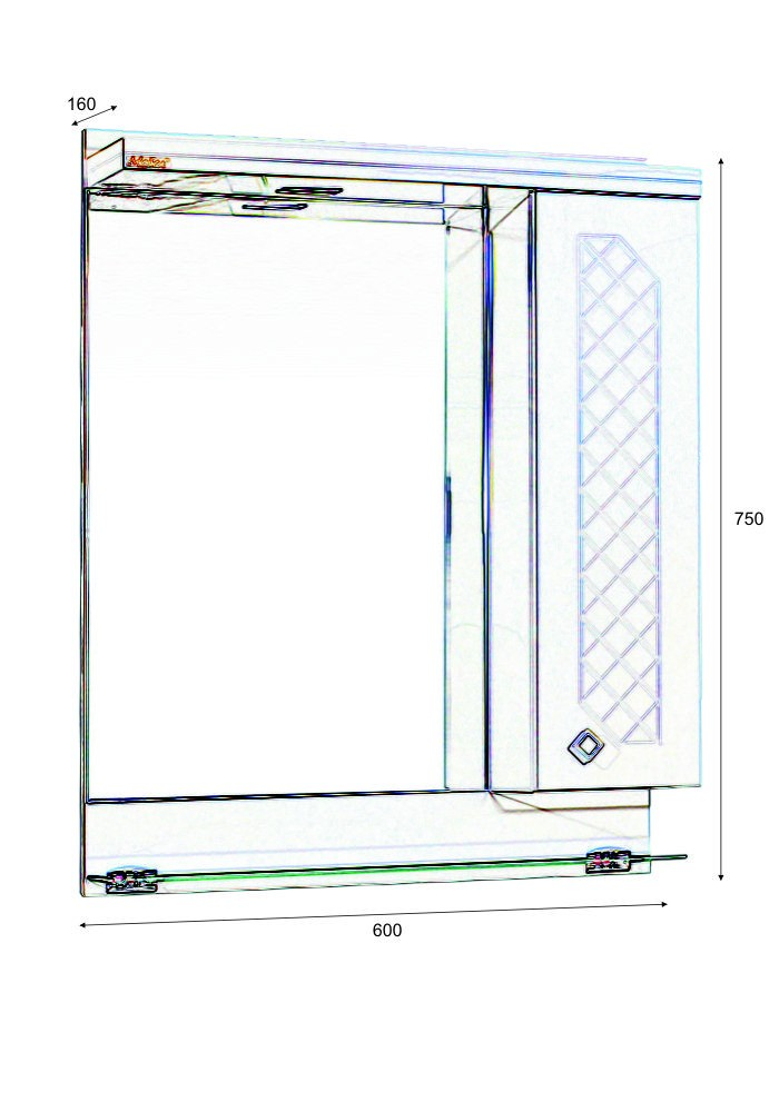Шкаф Ангара горен 60 см