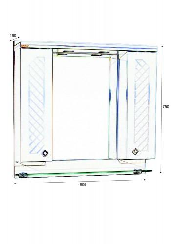 Шкаф за баня Ангара горен 80 см