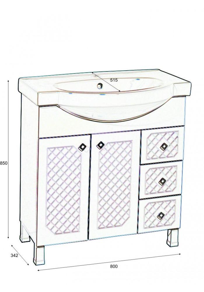 Шкаф Ангара долен 80 см