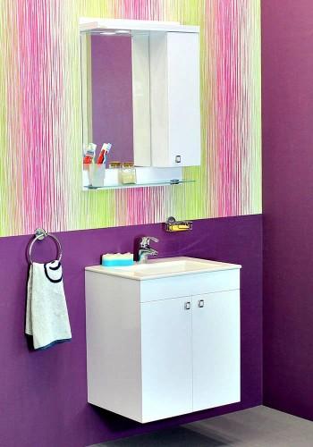 100 % PVC водоустойчиви мебели за баня Атина конзолна 55 см