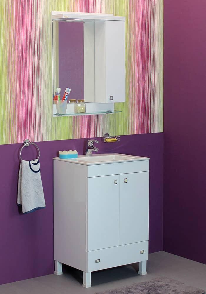 100 % PVC водоустойчиви мебели за баня Атина 55 см