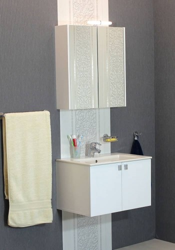 100 % PVC водоустойчиви мебели за баня Бяла Витоша 65 см