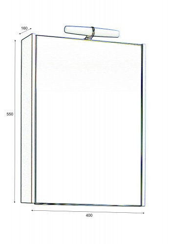 Горен шкаф за баня Класика 40 см