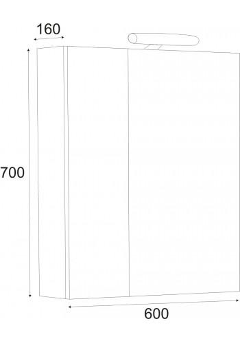 Шкаф за баня Фаворит 60 см горен - Класика
