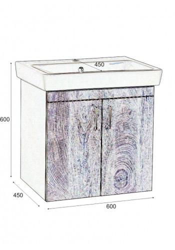 Шкаф за баня Касерта долен 60 см