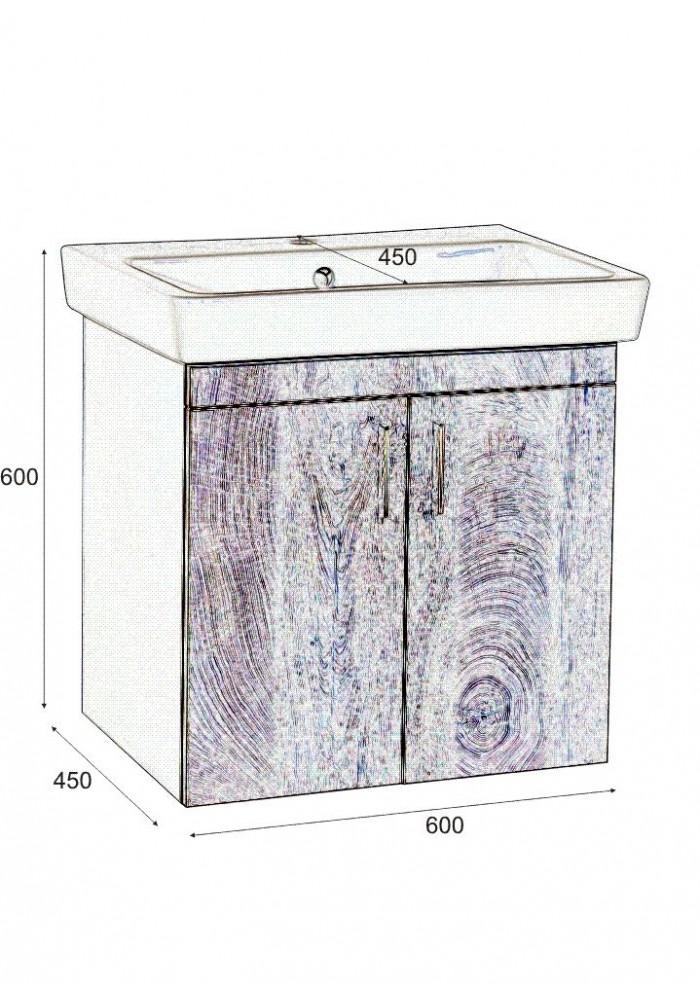 Шкаф касерта долен 60 см