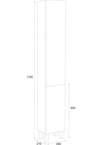 Колона за баня Елегант универсал 175 см