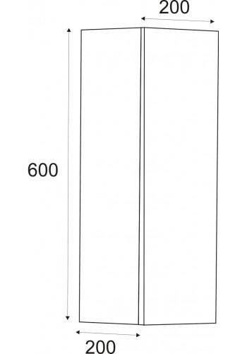 Колона за баня Елегант универсал реверсивна 60 см