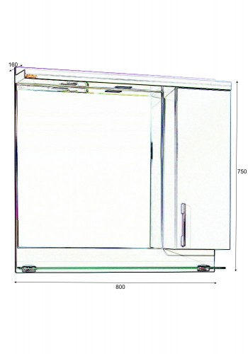 Шкаф за баня Модена некст горен 80 см