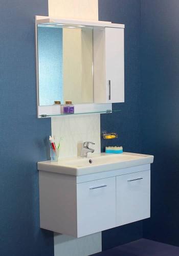 100 % PVC водоустойчиви мебели за баня Модена некст 85 см