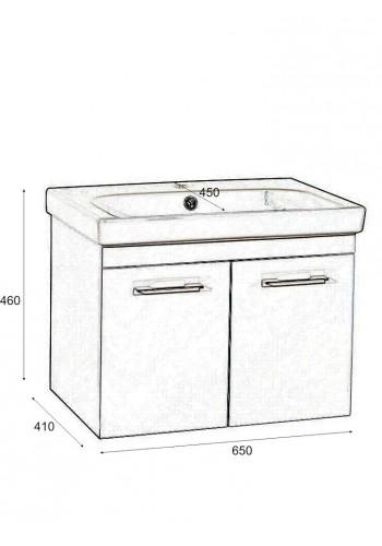 Шкаф за баня Модена некст долен 65 см конзолен