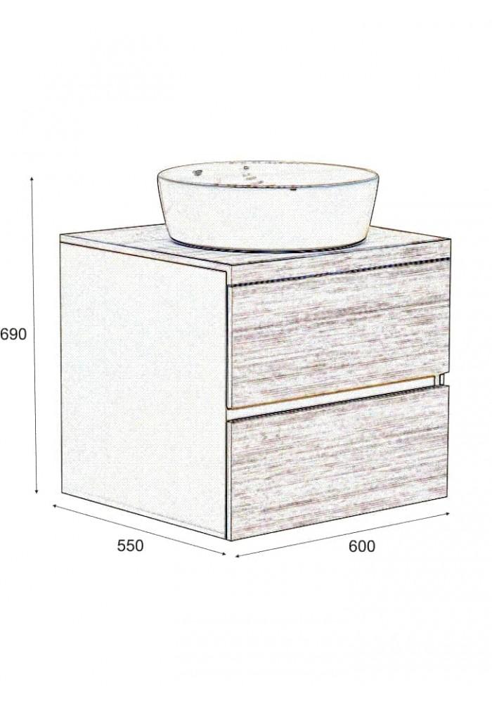 Шкаф за баня Пагода долен 60 см - 2