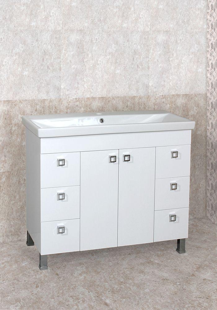 Шкаф за баня Пандора долен 100 см на крака