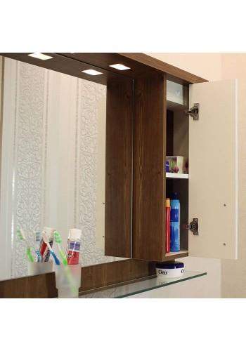 Шкаф за баня Приора горен 80 см С НАГРЕВАТЕЛ
