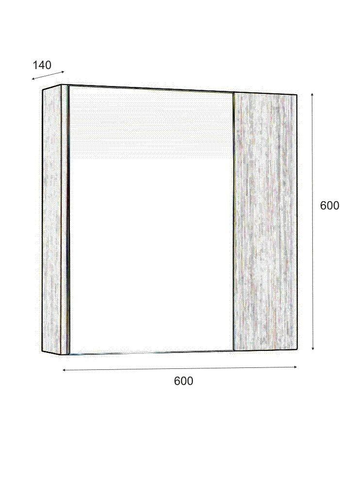 Шкаф Радост горен 60 см