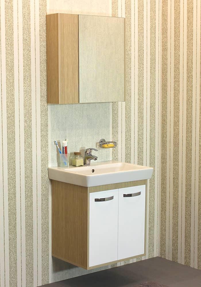 100 % PVC водоустойчиви мебели за баня Радост 60 см