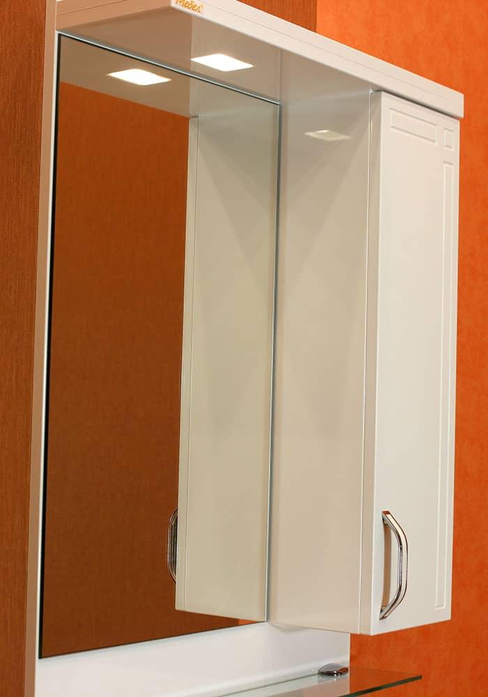 Шкаф за баня Рим плюс горен 55 см ОГЛЕДАЛО С НАГРЕВАТЕЛ