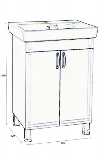 Шкаф за баня Рим Плюс долен 60 см