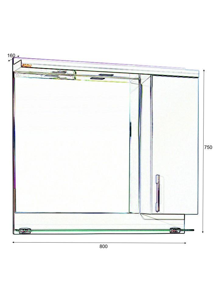 Горен шкаф за баня Модена некст 80 см