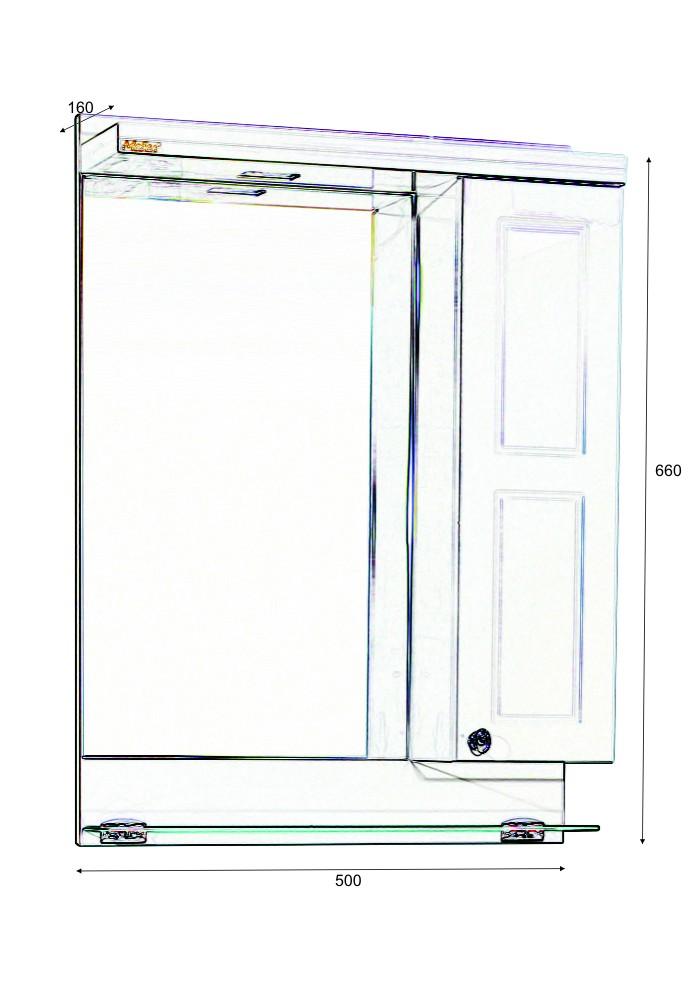 Шкаф за баня Самара горен 50 см