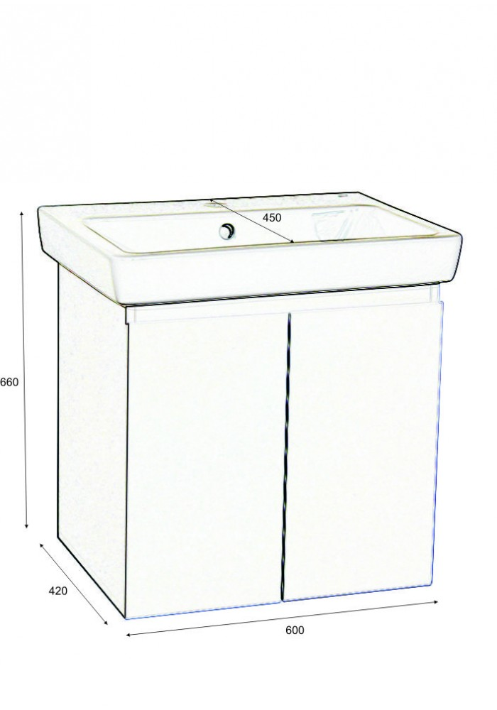 Шкаф Симпли-М долен 60см