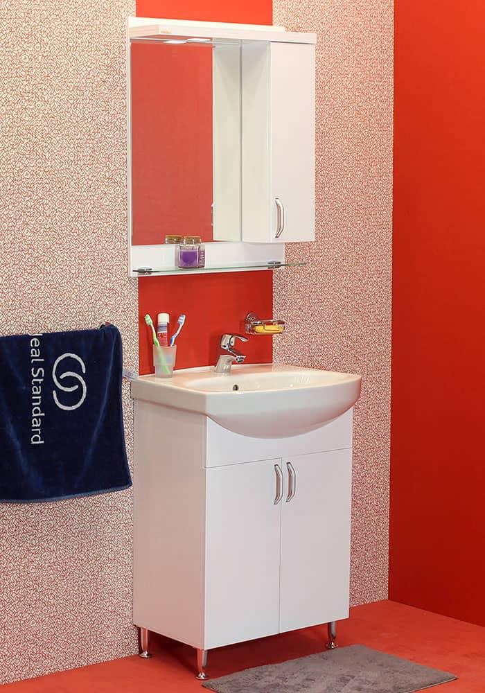 100 % PVC водоустойчиви мебели за баня София 60 см на цена 530.00 лв.
