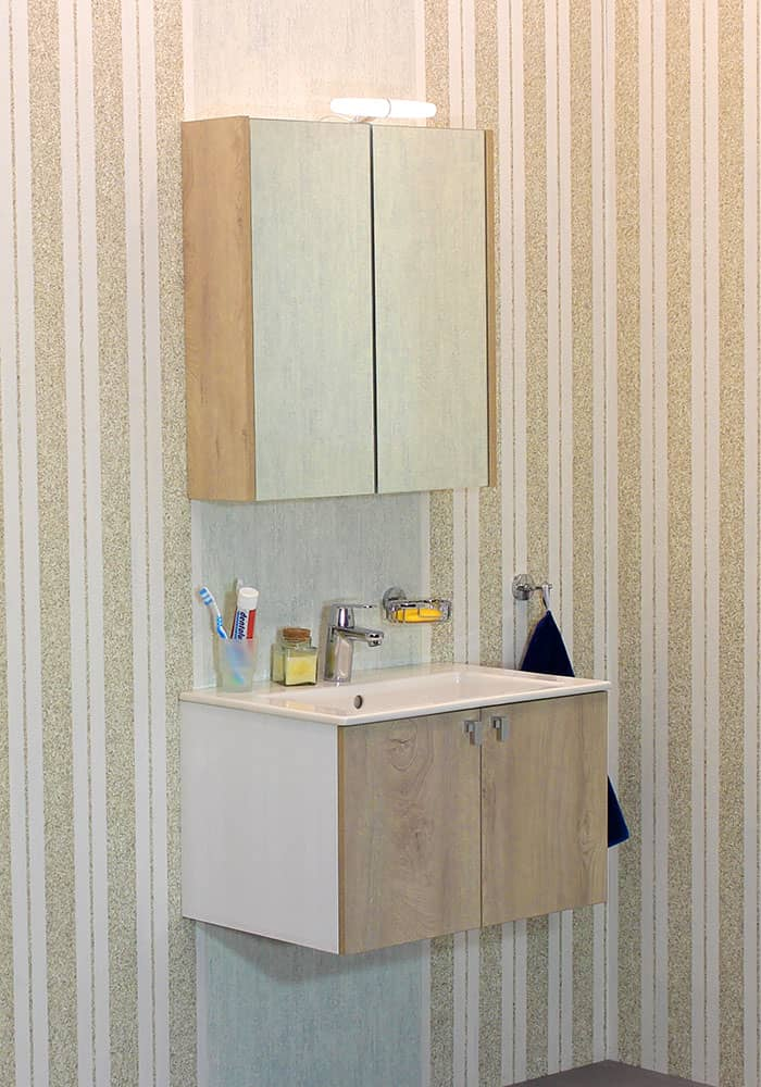 100 % PVC водоустойчиви мебели за баня Витоша 65 см