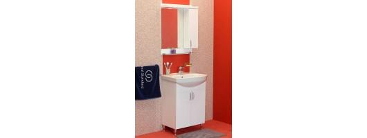 100 % PVC водоустойчиви мебели за баня София 60 см (Видео)