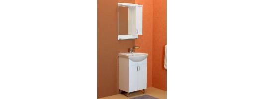 100 % PVC водоустойчиви мебели за баня Рим 55 см (Видео)